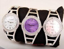 New Fashion 5pcs  Crystal woman girls ladies Steel Bangle watches gifts LK40