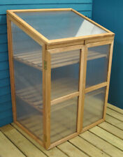 More details for factory second - wooden framed polycarbonate growhouse mini greenhouse