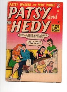 PATST AND HEDDY #9  EARLY ISSUE CHUNK MISSING FROM COVER