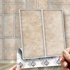 8 parquet Stone Stick Self Adhésif Mural Carrelage Autocollants pour Cuisine & Salle de Bain
