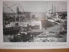 Iceland Reykjavik docks printed photograph 1941