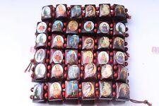 12x Mixed Saints Jesus Religious Wood Catholic Icon Bracelet ePacket ship to USA