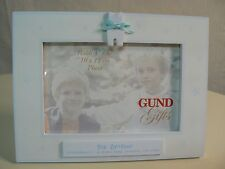 Gund I'M THE BIG BROTHER wood frame 4x6 photo Blue Overalls Attachment NEW