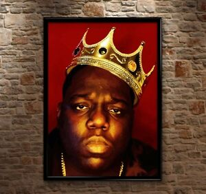 PREMIUM Biggie Smalls Crown Notorious BIG Luke Cage Poster Print Art Huge HQ A0+