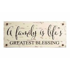 22 Inches White Wood GREATEST BLESSING Barn Board Sign by K&K Interiors #13633A