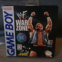 WWF War Zone - Nintendo Game Boy Gameboy with box and Poster