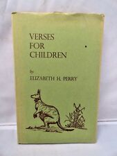 Verses for Children Liz Perry Tokyo Japan Rare Private Author 1966 1st Edition