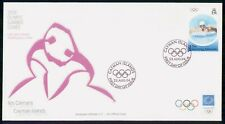 CAYMAN ISLANDS FDC 2004 COVER OLYMPICS SWIMMING
