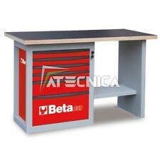 Banco da lavoro 1,5 mt e cassettiera Beta C59C Rosso in acciaio piano in legno