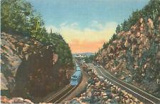 1943 Gate of the Notch Crawford Notch White Mountains N.H. Postcard Train