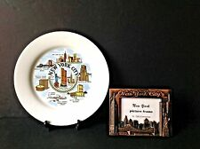 Set 2 New York City, Twin Tower, Statue of Liberty Picture Metal Frame & Plate