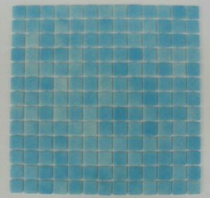 SHEET OF GLASS MOSAIC TILES NIEBLA FOGGY LIGHT BLUE ANTI - SLIP 25 x 25 mm PS50