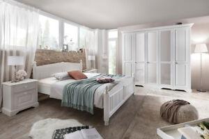 PISA  Bedroom set * bedside * chest * bedframe * wardrobe * mirror WHITE