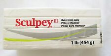 SCULPEY III - Polymer Clay - 454g - Large Block - WHITE