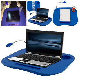 Laptop Desk & Cup Holder Lapdesk Portable Bed Tray Table Stand Pillow Cooler