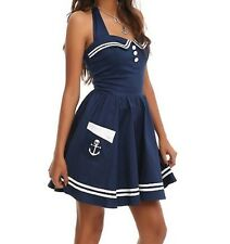 NWT Hell Bunny Vixen Dress XS Sweetheart Rockabilly Sailor Skull Nautical Pin up