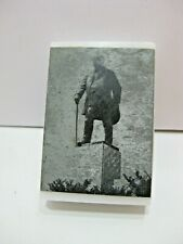 Vintage Metal Engraving by Otto A. Wills Marble Base Paperweight T. Roosevelt