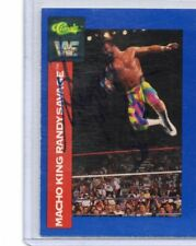 RANDY MACHO MAN SAVAGE 1991 CLASSIC AUTOGRAPH CARD HAND SIGNED RARE! SUPERSTAR