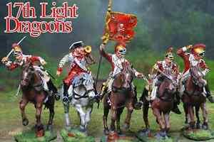 COLLECTORS SHOWCASE AMERICAN REVOLUTION BRITISH 17TH DRAGOONS SET MIB