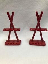 Set of 2 Playmobil Red Weapon Stand Rack Knights Viking Fort Castle 3151