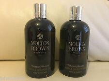 Molton Brown 2 x 300ml Tobacco Absolute Bath & Shower Gel BRAND NEW **LOOK**