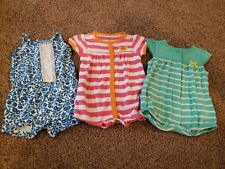Baby girl Size 3 Months Clothes Lot, One Piece Rompers, 3 Month Outfit