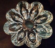 Teardrop Crystal Candle Holder Candlestick Vintage Prismatic Brilliant Glass