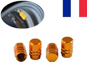 4X Bouchons de valve en aluminium Pneu Vélo VTT voiture jante Anti Poussière