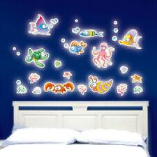 Glow in Dark Undersea World Animal Vinyl Art Wall Sticker Kid Bedroom Decoration
