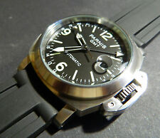 PARNIS GMT:17 JEWEL AUTOMATICO: 50mm:All in acciaio inox: MILITARE: MARINA: