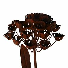 Gartendeko Gartenstecker aus Edelrost Metallblume 103 cm 3D Optik für Garten