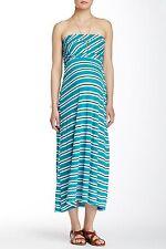 Michael Stars - Women's S Maternity - NWT$98 - Teal Striped Strapless Knit Dress