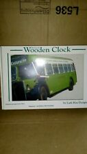 WOODEN OLD COACH / BUS CLOCK HAND MADE BY LARK RISE DESIGNS ( BNIB)