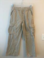 Teen Boy`s Pants Elastic Waist School Uniform Pants Size 10 Husky