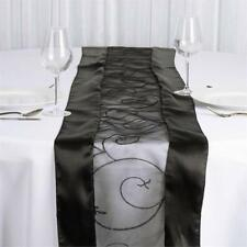 Black Table Runner ~  Organza & Satin Brand New in Pack, Stunning