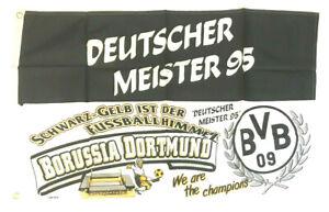 Borussia Dortmund BVB - Fahne Flagge Flag Fussball Deutscher Meister 95 #553