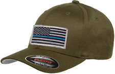 Flexfit Mid-Profile Fitted 6277 Thin Blue Line Hat