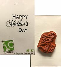Impression Obsession Stamps Happy Mothers Day Rubber Stamp A5137 Holidays Words