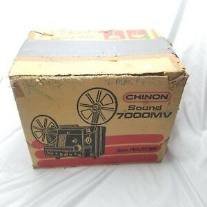 CHINON Sound 7000 MV 8mm Projector & Accessories