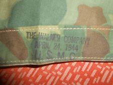 U.S.ARMY: 1944 WWII U.S.MARINES,PONCHO,CAMOUFLAGE SHELTER,OR TENT