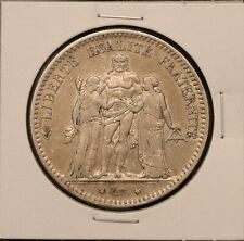 1875A France 5 Francs - KM 820.1 - 900 silver 25 grams - nice coin