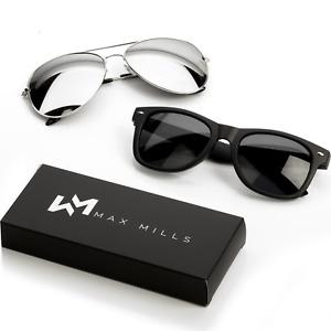 Sunglasses Mens Ladies Max Mills Womens UV400 Retro Unisex Glasses