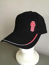 BNWT Genuine Kenworth Merchandise Black Pure Cotton KW Logo Peak Adult Size Cap