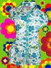 43✪  Indian Boho 70er Jahre Hippie Bluse Tunika Blumenmuster Pailletten Gr. 34
