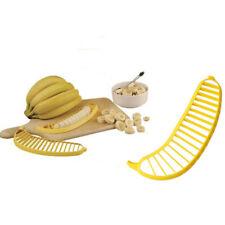 Kitchen Gadgets Plastic Banana Slicer Cutter Fruit Vegetable Tools Salad Maker