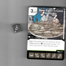 DICE MASTERS DC BATMAN UNCOMMON CARD & DIE #78 A/B TWO-FACE'S COIN HEADS I WIN