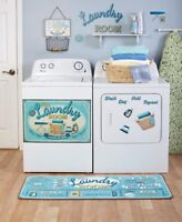 Lively Laundry Room Decor Accents Door Magnet Wall Decals Basket Window Valance