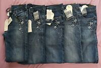 Liu-Jo Women's Denim Blue Live Wash Divine Jeans With Gemstones New With Tags
