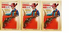 Set of 3 Vintage 1970s Solid Die-Cast Metal Cowboy Miniature Cap Guns Hong Kong