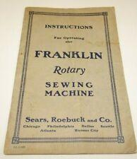 Husqvarna Printed in Sweeden 1949 vintage sewing book Handbook for Domestic Sewing Machine Class 12 CB-N
